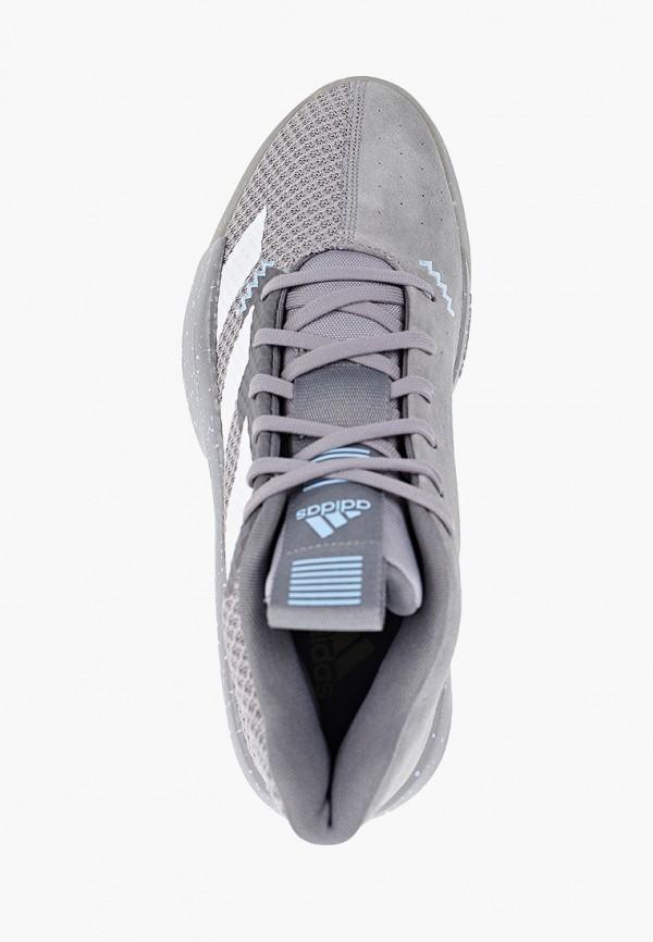 Фото 4 - мужские кроссовки adidas серого цвета