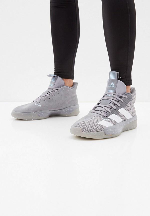 Фото 6 - мужские кроссовки adidas серого цвета