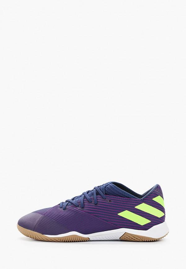мужские бутсы adidas, фиолетовые