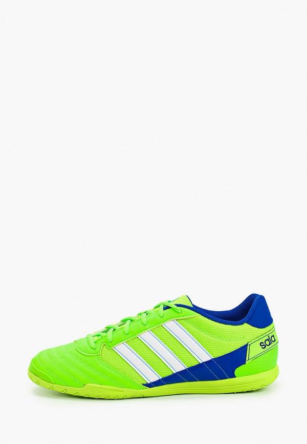 мужские бутсы adidas, зеленые