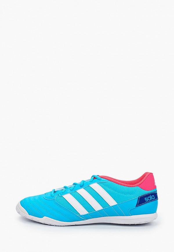 мужские бутсы adidas, голубые