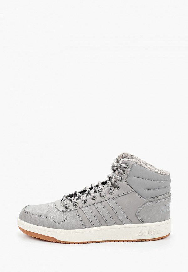 мужские высокие кеды adidas, серые
