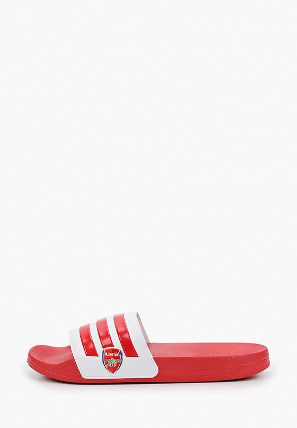 мужские сланцы adidas, красные