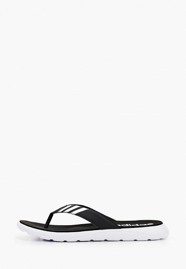 мужские сланцы adidas, черные