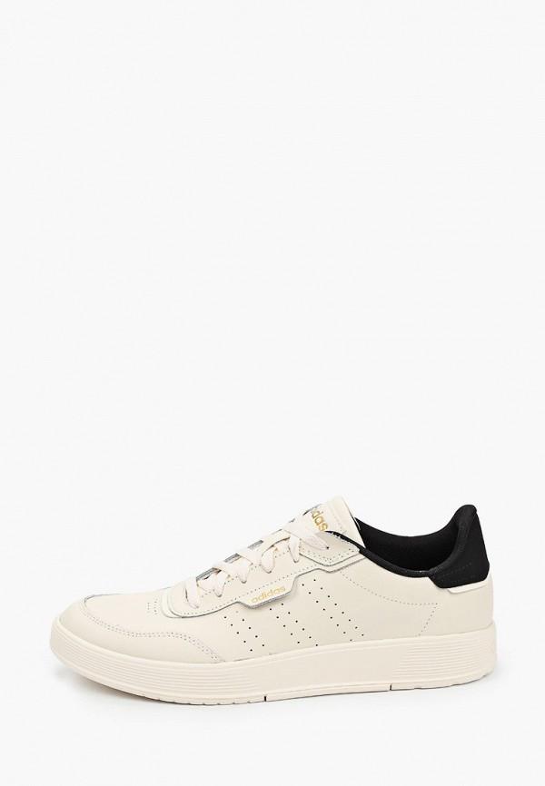 мужские низкие кеды adidas, бежевые