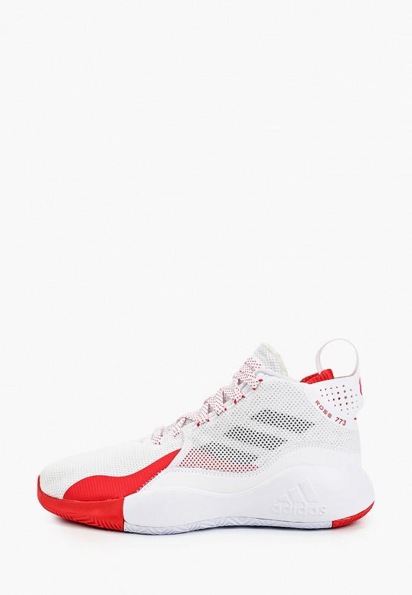 мужские высокие кроссовки adidas, белые