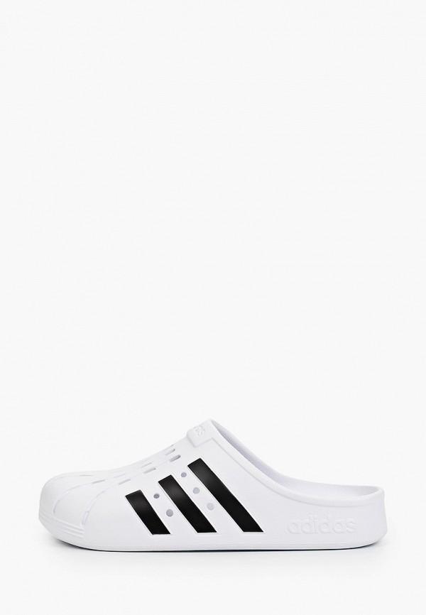 мужское сабо adidas, белое