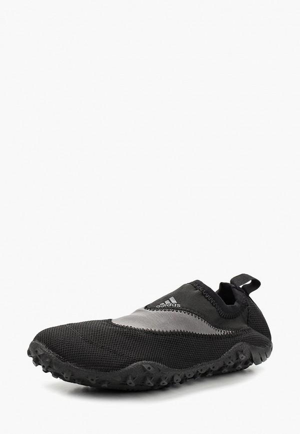 женские слипоны adidas, черные