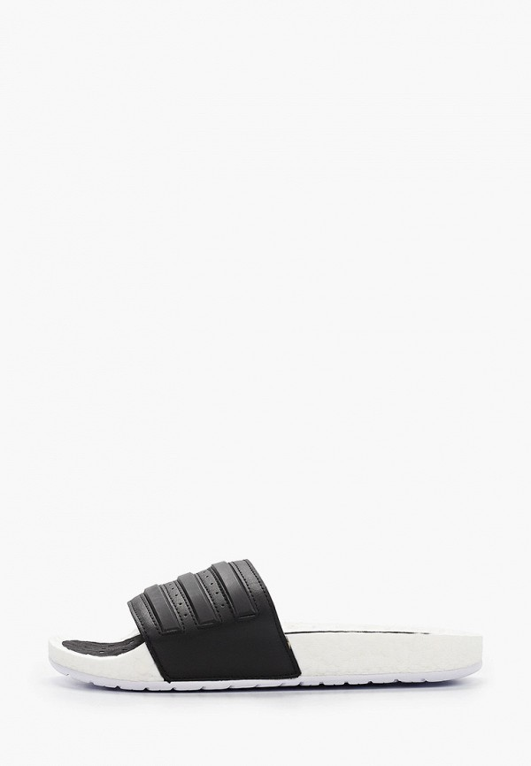 женские сланцы adidas, черные