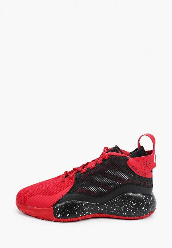 женские низкие кроссовки adidas, красные