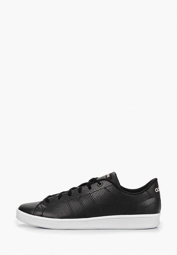 Купить Кеды adidas, ADVANTAGE CLEAN QT, ad002aweegi3, черный, Весна-лето 2019