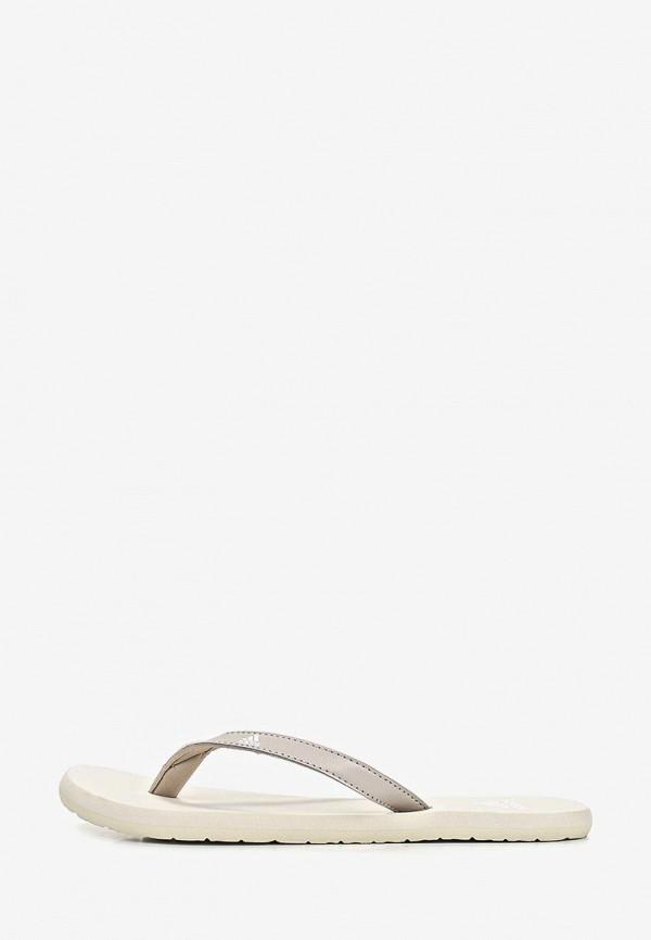 женские сланцы adidas, бежевые