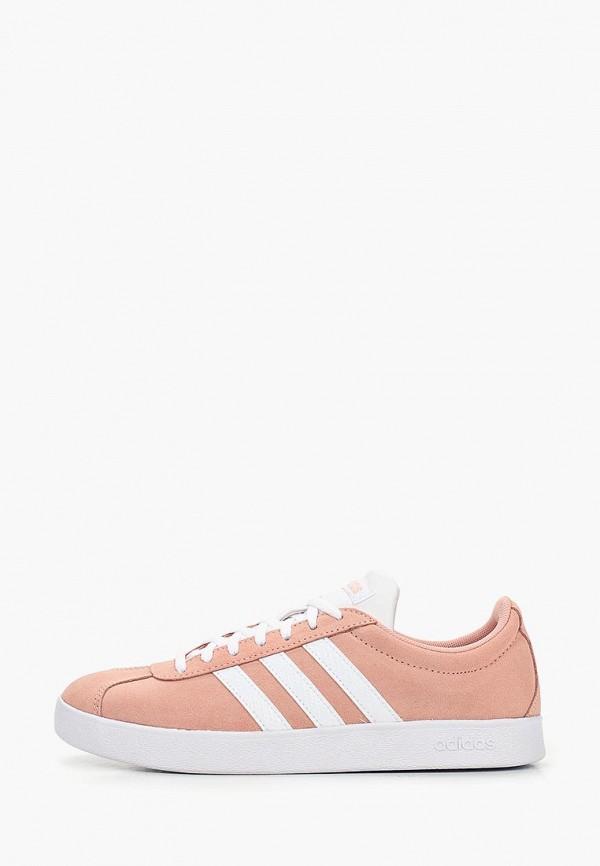 женские кеды adidas, розовые