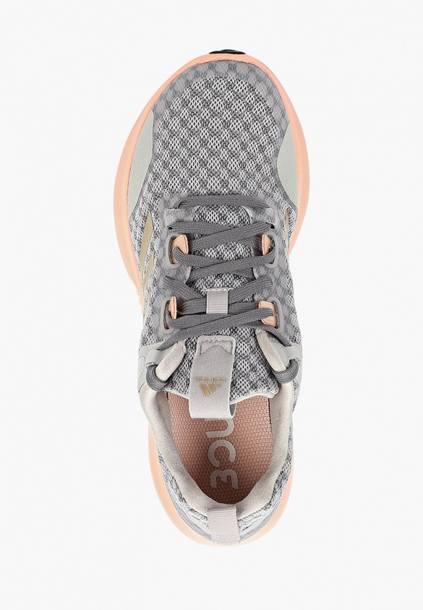 Фото 4 - женские кроссовки adidas серого цвета