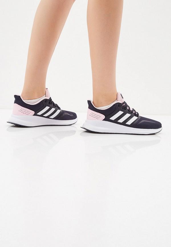 Фото 6 - женские кроссовки adidas синего цвета