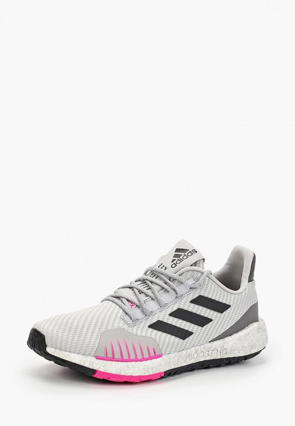 Фото 2 - женские кроссовки adidas серого цвета