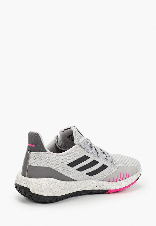 Фото 3 - женские кроссовки adidas серого цвета