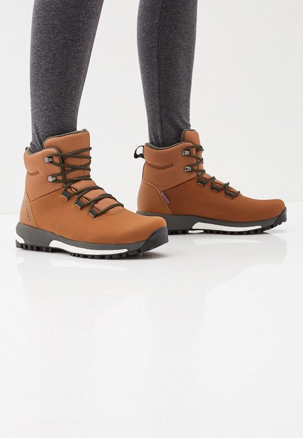 Фото 6 - женские ботинки и полуботинки adidas коричневого цвета