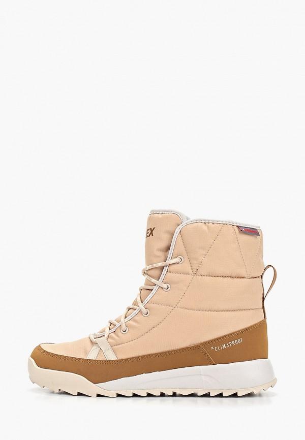 женские ботинки adidas, бежевые