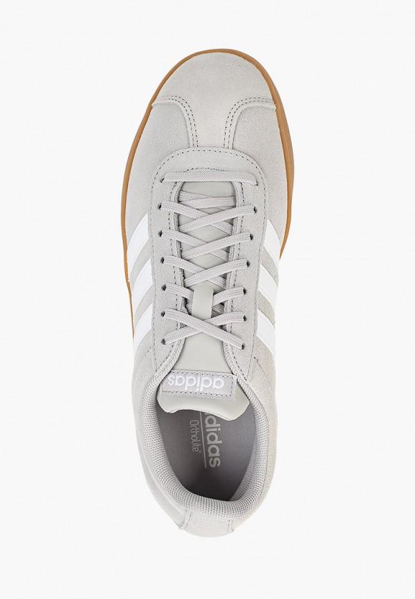 Фото 4 - женские кеды adidas серого цвета