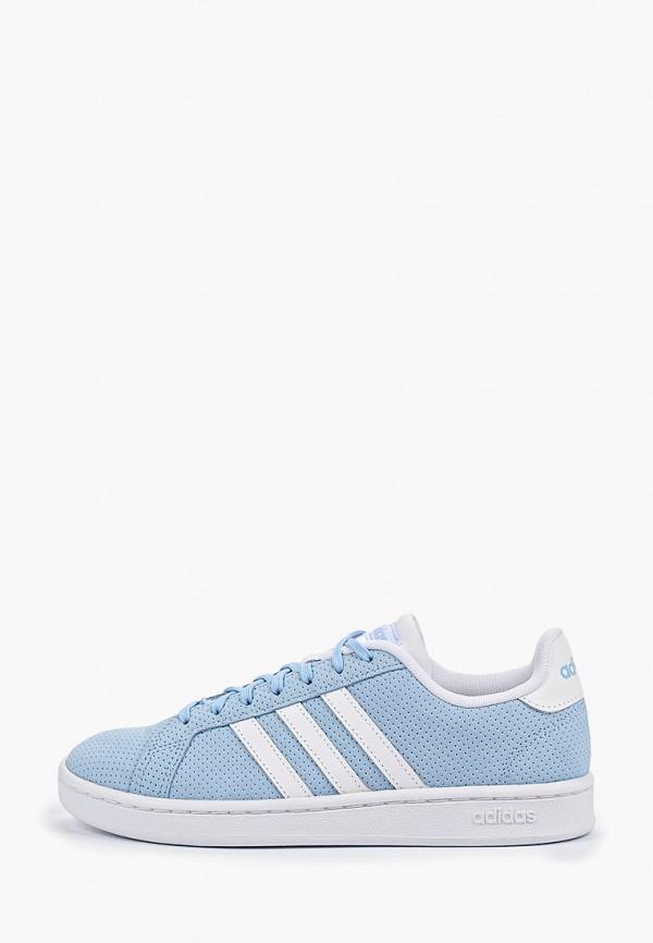женские кеды adidas, голубые