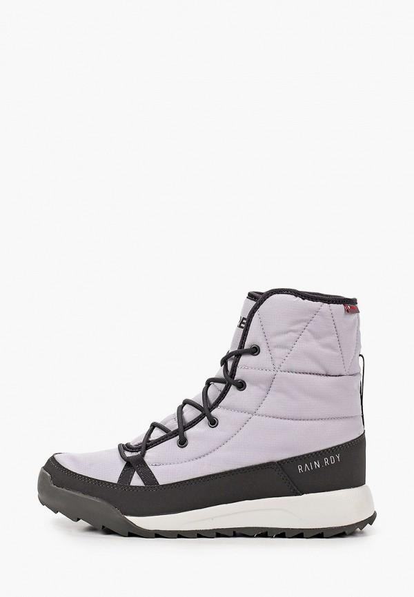 женские ботинки adidas, серые