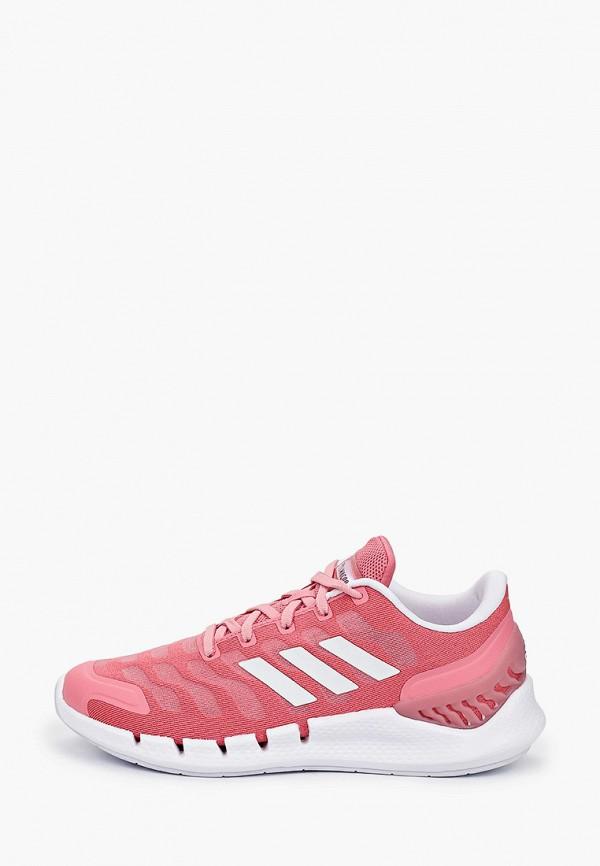 женские низкие кроссовки adidas, розовые