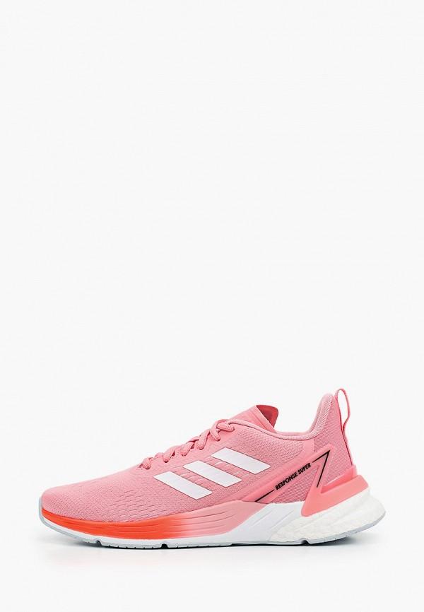 женские кроссовки adidas, розовые