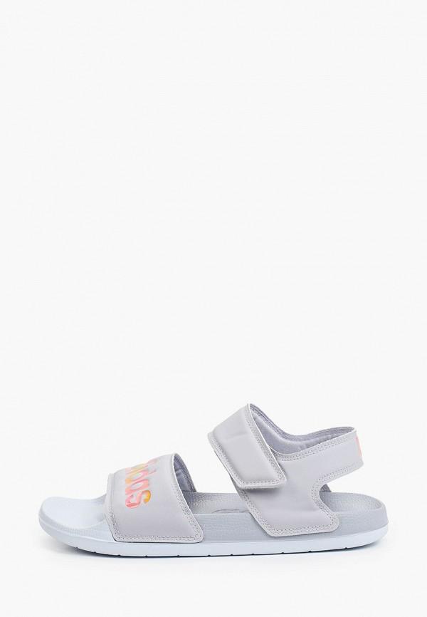 женские сандалии adidas, голубые
