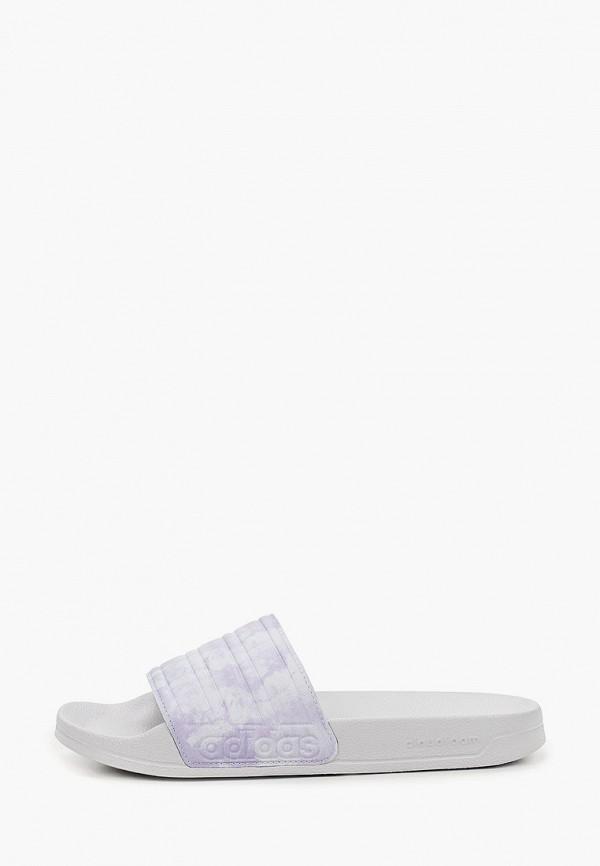 женские сланцы adidas, фиолетовые