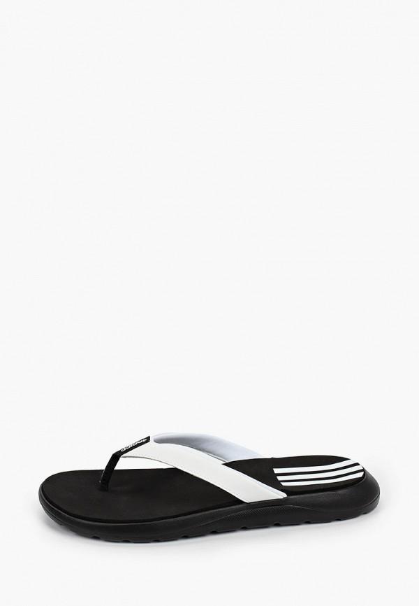 женские сланцы adidas, белые