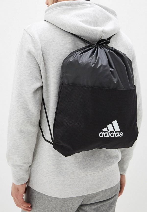 Фото 5 - Мешок adidas черного цвета