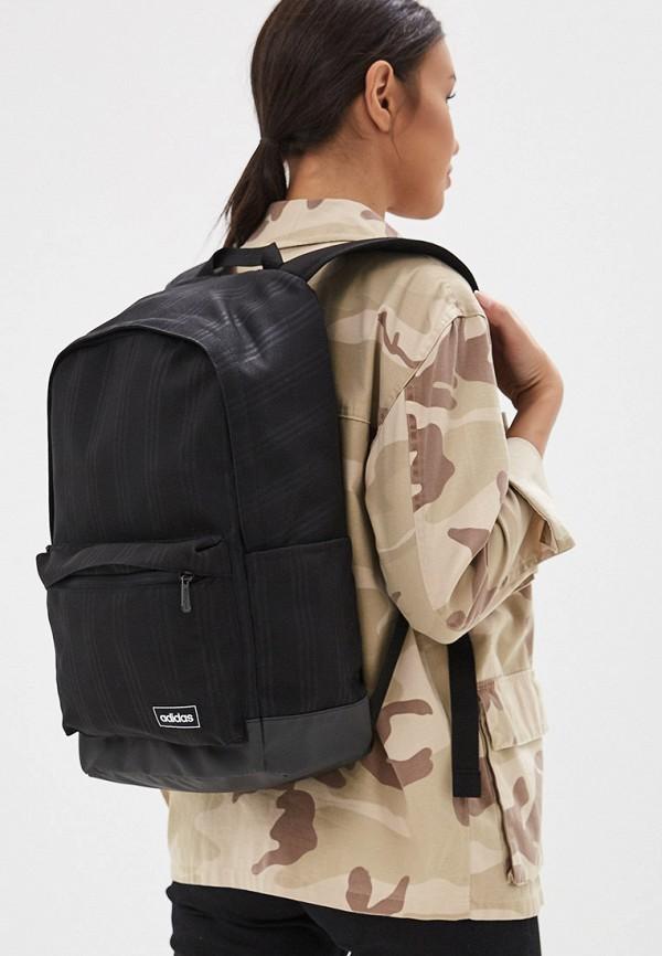 Фото 4 - женский рюкзак adidas черного цвета
