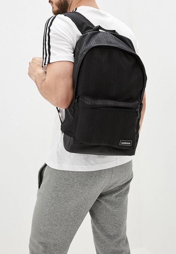 Фото 5 - женский рюкзак adidas черного цвета