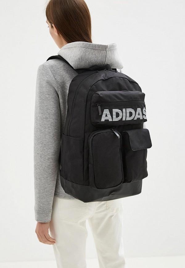 Фото 4 - Рюкзак adidas черного цвета