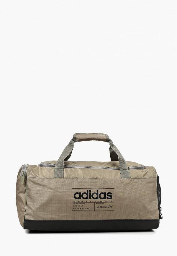 женская сумка adidas, коричневая