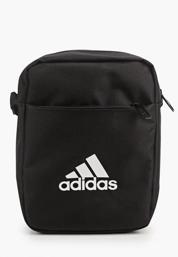 женская сумка через плечо adidas, черная