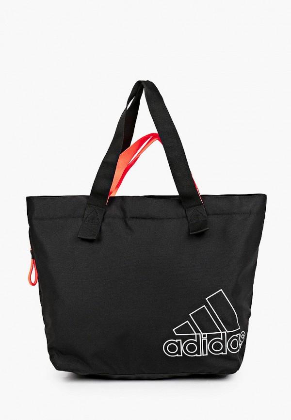 женская сумка-шоперы adidas, черная