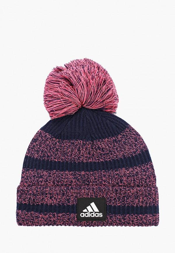шапка adidas для девочки, синяя
