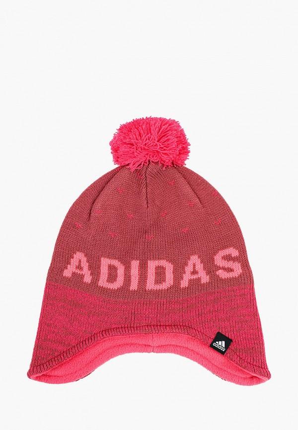 шапка adidas для девочки, розовая