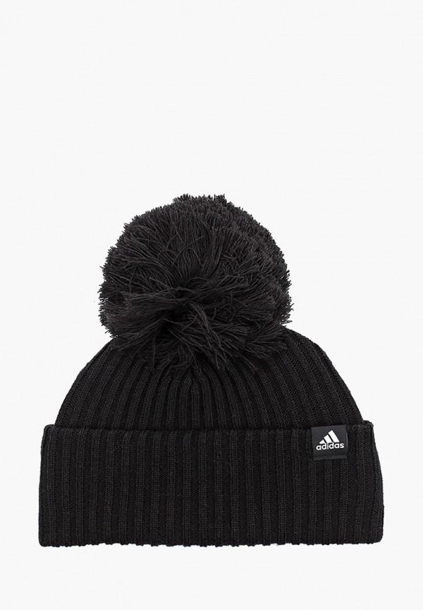 шапка adidas малыши, черная
