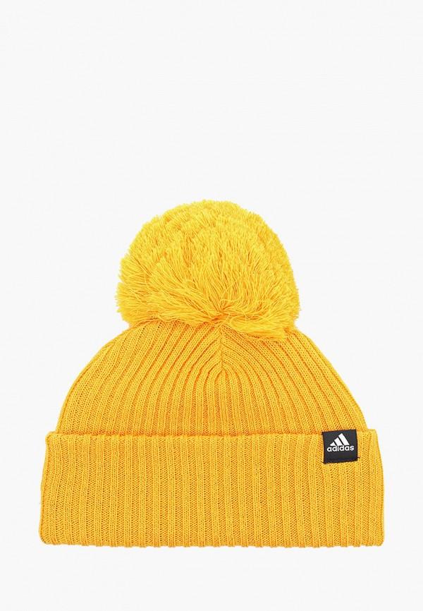 Купить Шапку adidas желтого цвета