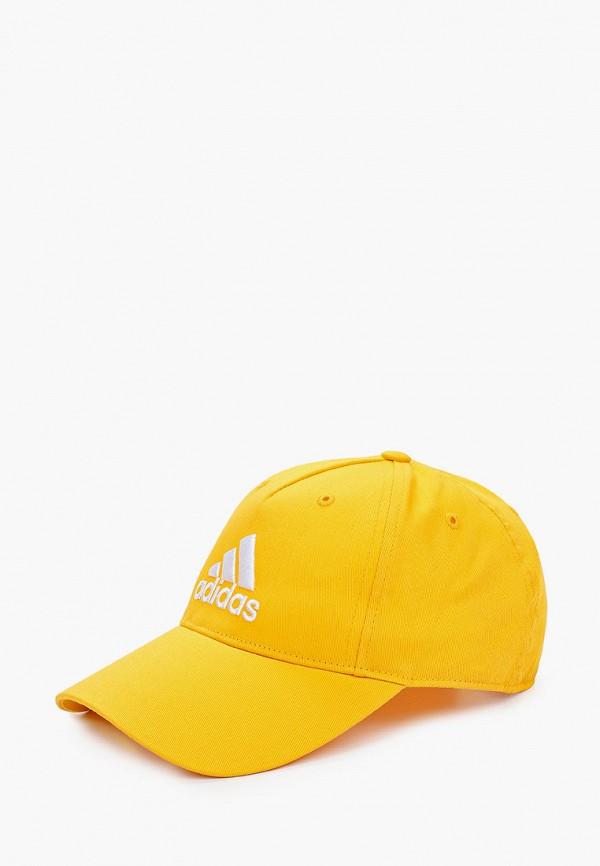 бейсболка adidas малыши, желтая