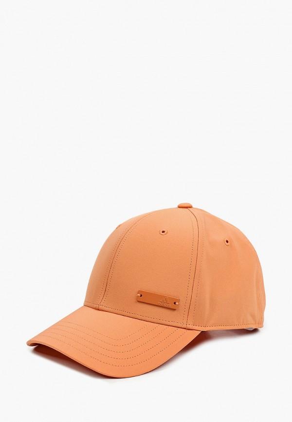 мужская бейсболка adidas, оранжевая