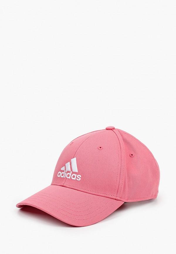 мужская бейсболка adidas, розовая