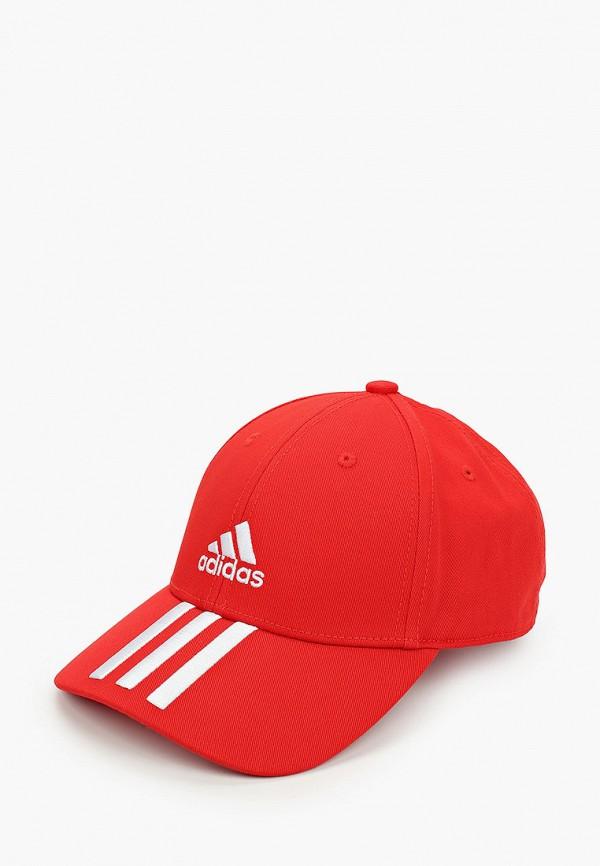 мужская бейсболка adidas, красная