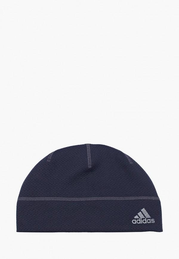 Купить Шапку adidas синего цвета