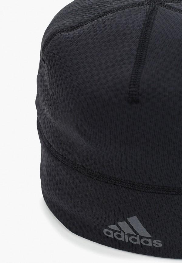 Фото 3 - Шапку adidas черного цвета