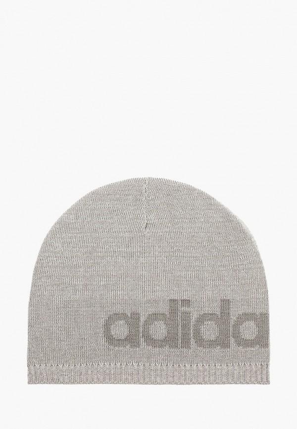 Купить Шапку adidas серого цвета