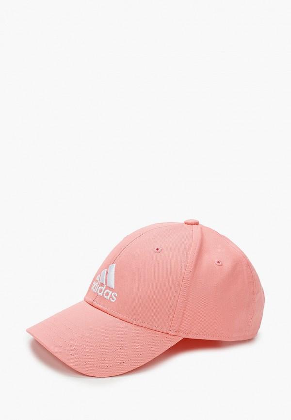 женская бейсболка adidas, розовая